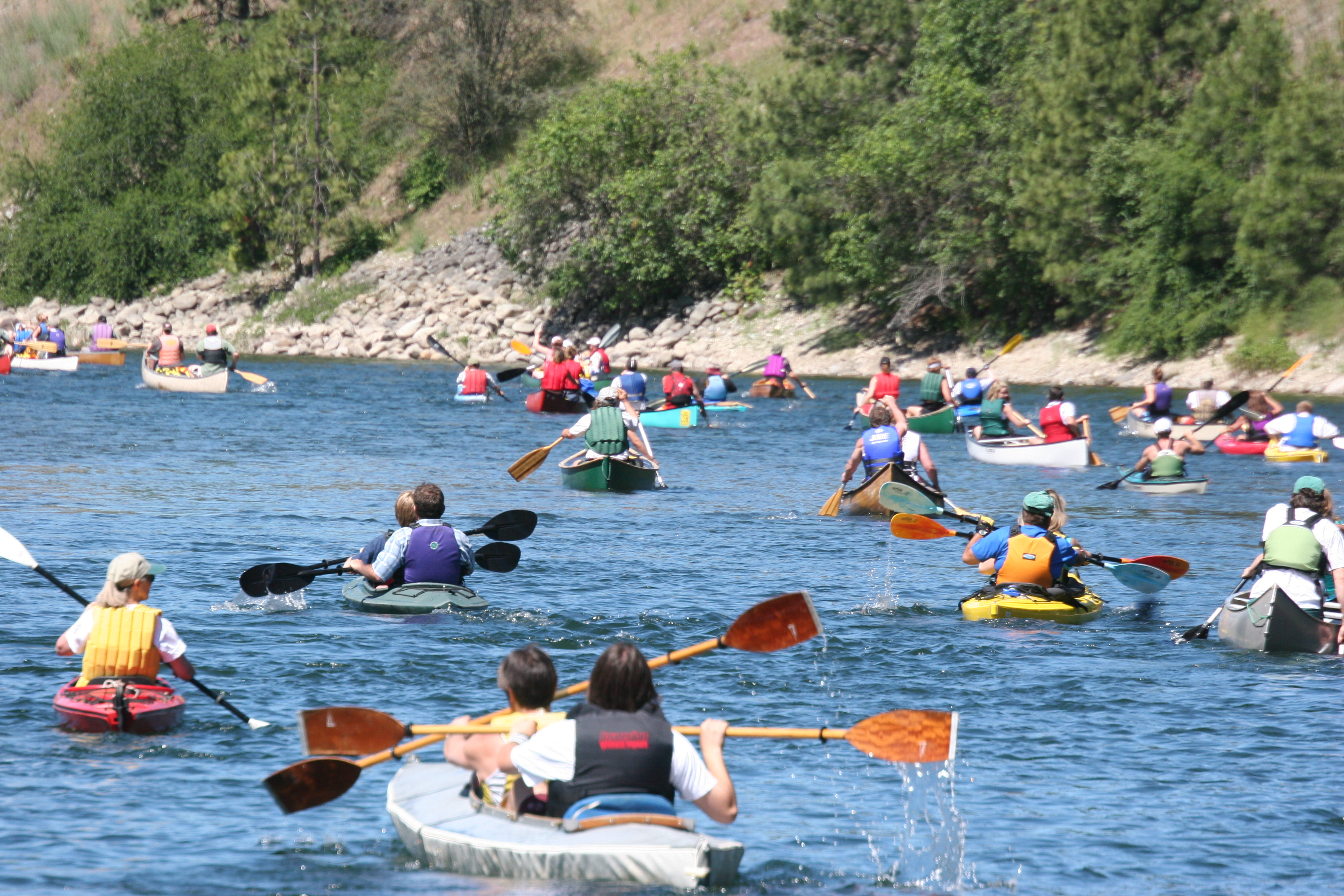 Spokane river canoe classic paddle for friends and family for Spokane river fishing
